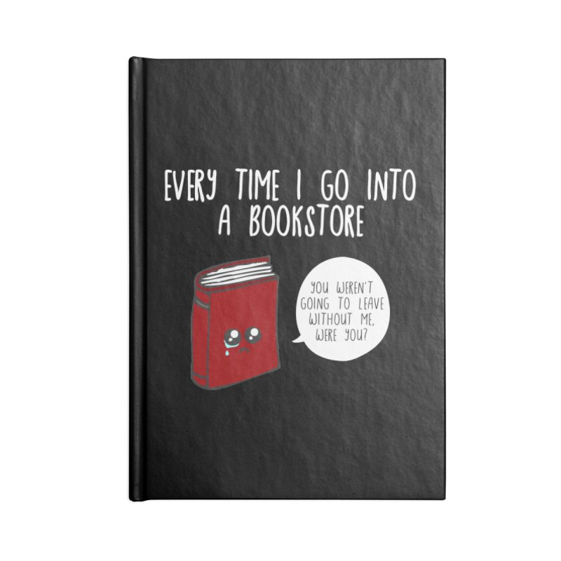 Bookstore Guilt Accessories Lined Journal Notebook by WritersLife's Artist Shop