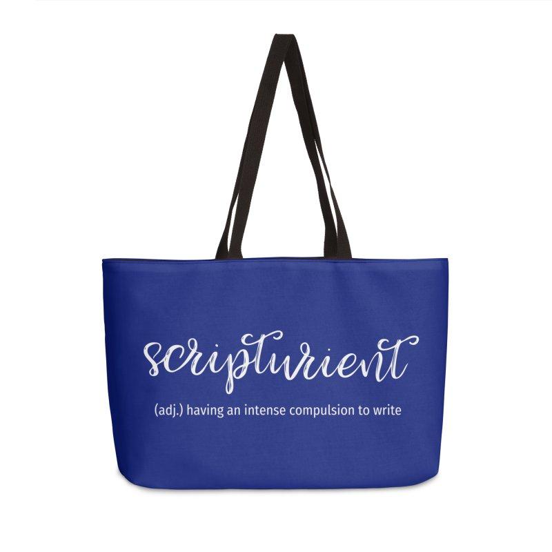 scripturient Accessories Weekender Bag Bag by WritersLife's Artist Shop