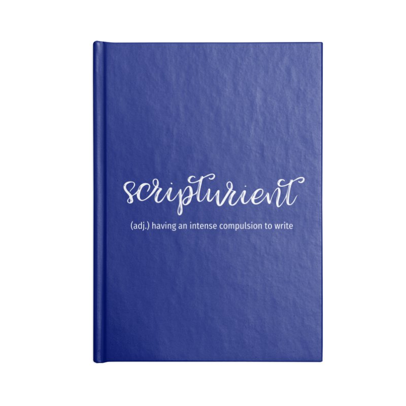 scripturient Accessories Lined Journal Notebook by WritersLife's Artist Shop