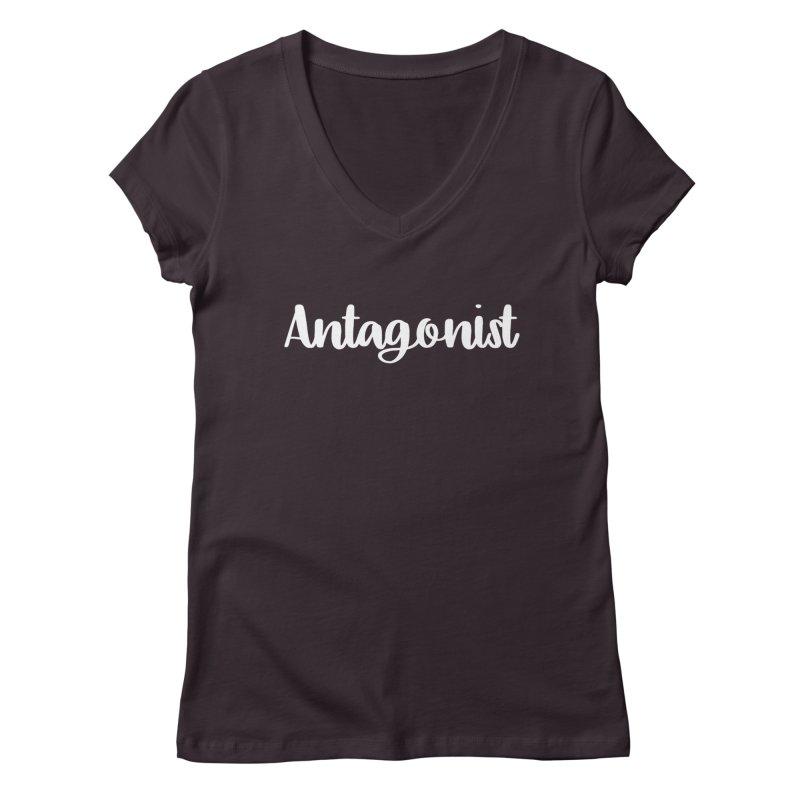 Antagonist Women's V-Neck by WritersLife's Artist Shop