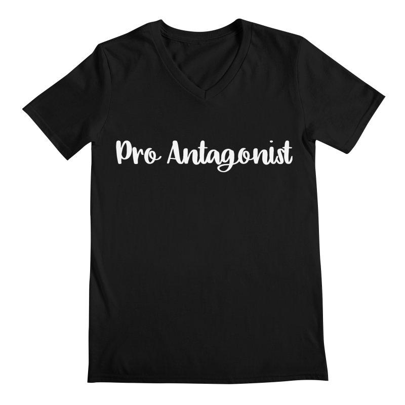 Pro Antagonist Men's Regular V-Neck by WritersLife's Artist Shop