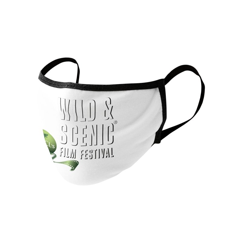 Classic WSFF Logo - White Accessories Face Mask by Official Wild & Scenic Merchandise