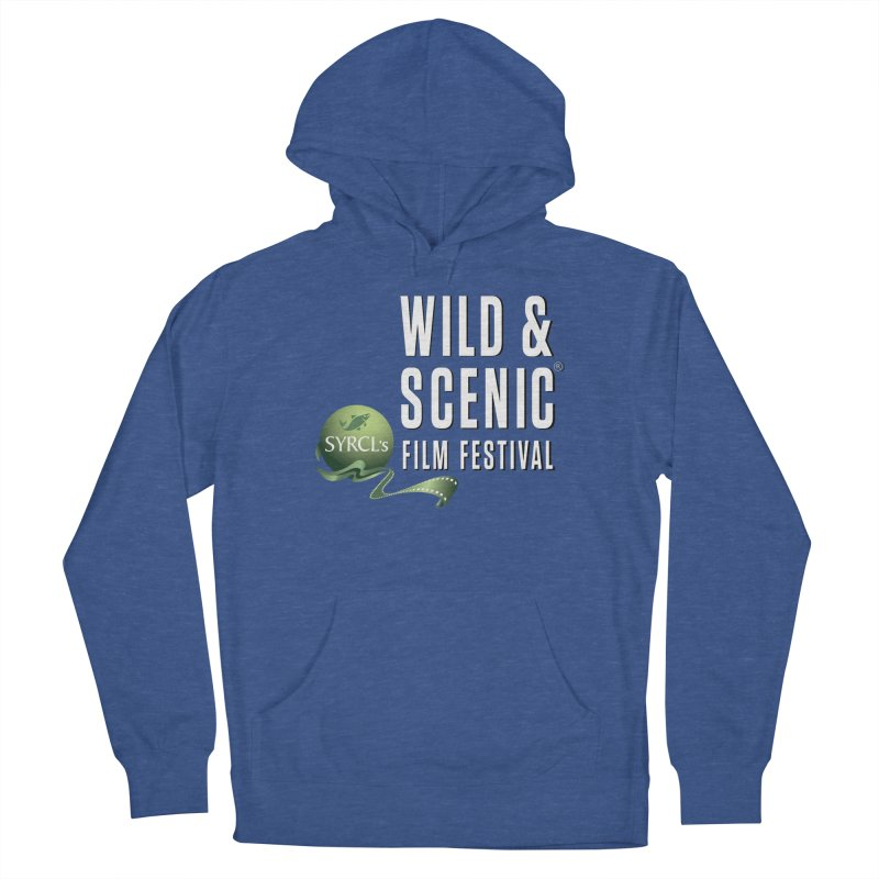 Classic WSFF Logo - White Men's Pullover Hoody by Official Wild & Scenic Merchandise