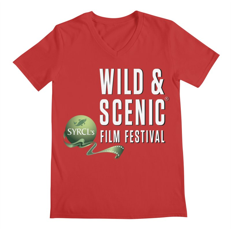 Classic WSFF Logo - White Men's V-Neck by Official Wild & Scenic Merchandise
