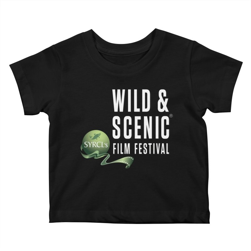 Classic WSFF Logo - White Kids Baby T-Shirt by Official Wild & Scenic Merchandise