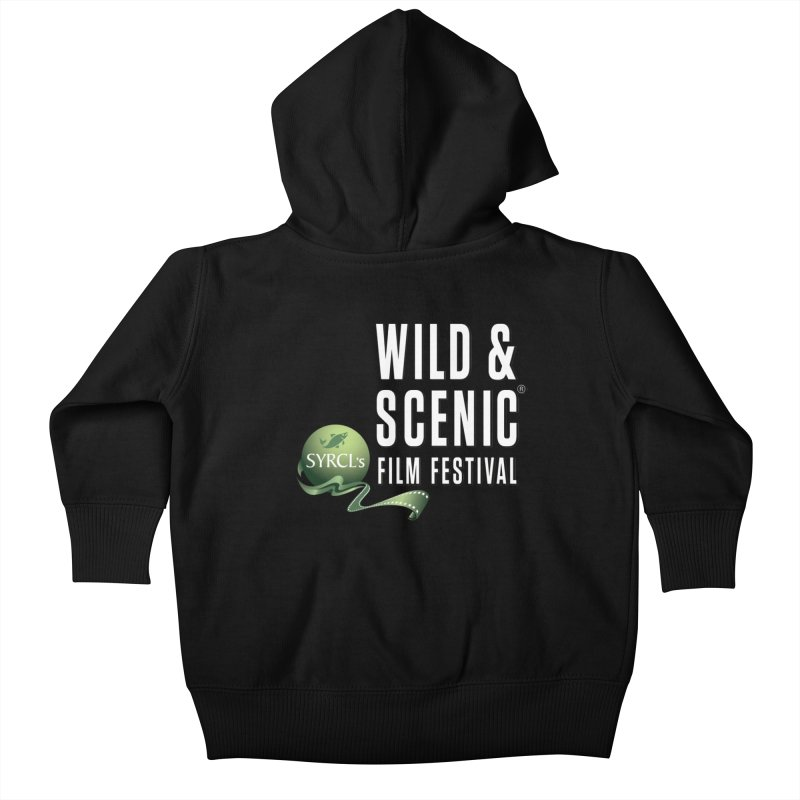 Classic WSFF Logo - White Kids Baby Zip-Up Hoody by Official Wild & Scenic Merchandise