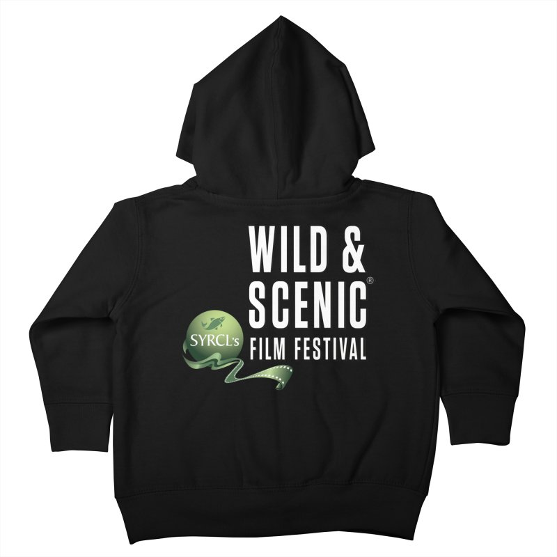 Classic WSFF Logo - White Kids Toddler Zip-Up Hoody by Official Wild & Scenic Merchandise