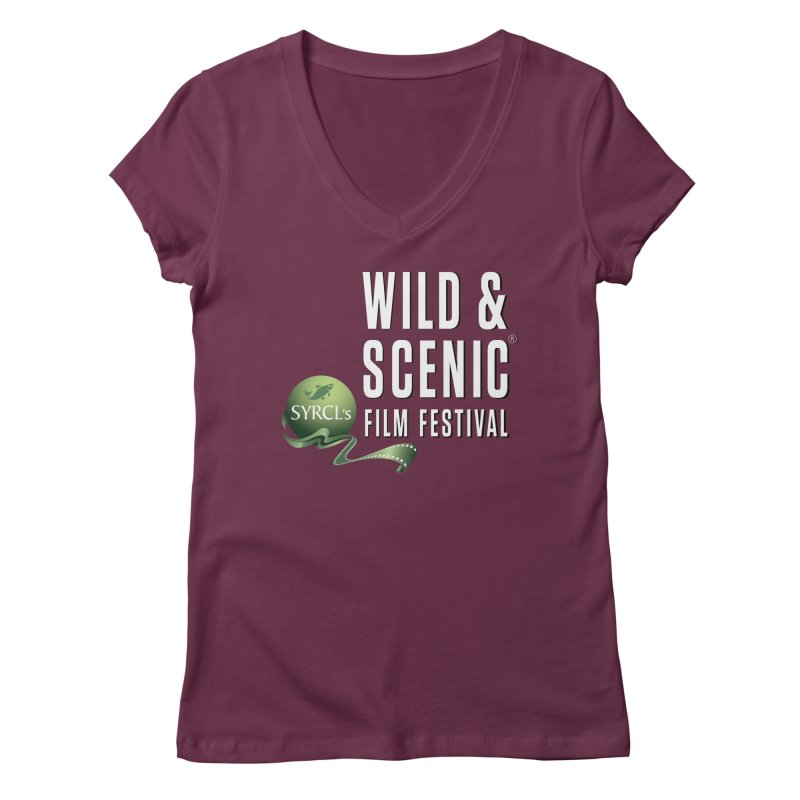 Classic WSFF Logo - White Women's V-Neck by Official Wild & Scenic Merchandise