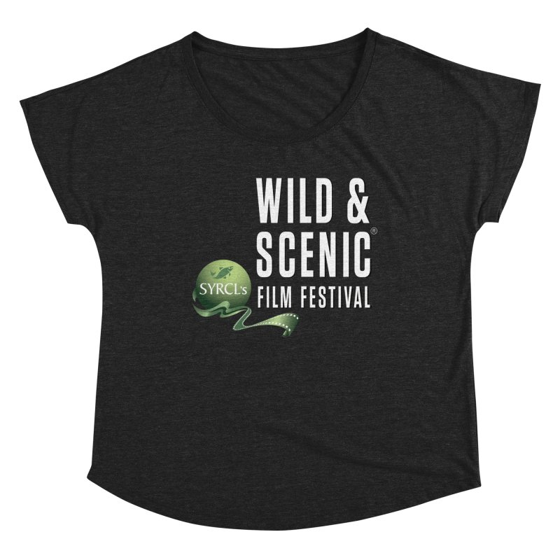 Classic WSFF Logo - White Women's Scoop Neck by Official Wild & Scenic Merchandise
