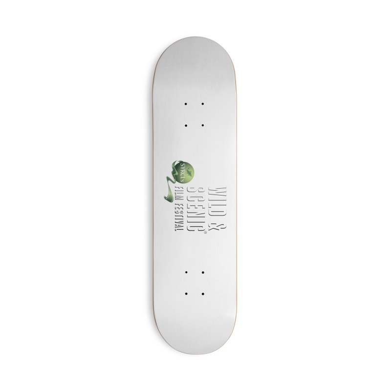 Classic WSFF Logo - White Accessories Skateboard by Official Wild & Scenic Merchandise