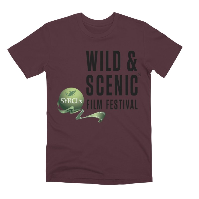 Classic WSFF Logo - Black Men's T-Shirt by Official Wild & Scenic Merchandise