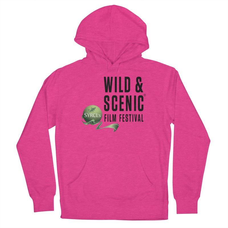 Classic WSFF Logo - Black Men's Pullover Hoody by Official Wild & Scenic Merchandise