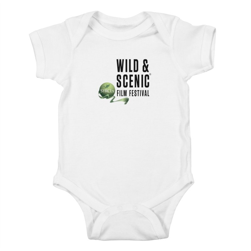 Classic WSFF Logo - Black Kids Baby Bodysuit by Official Wild & Scenic Merchandise