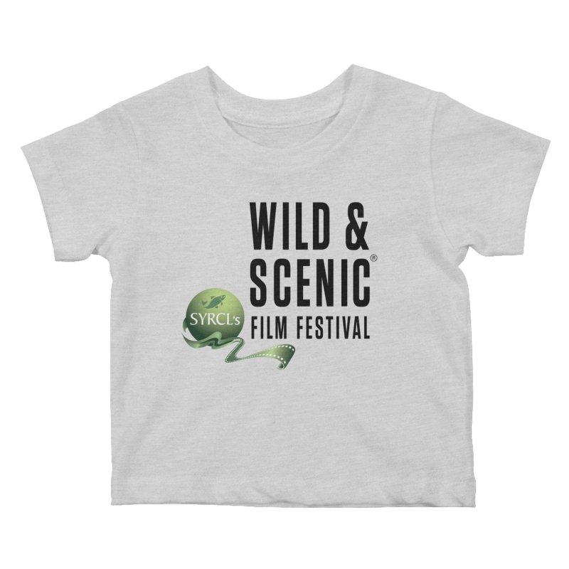 Classic WSFF Logo - Black Kids Baby T-Shirt by Official Wild & Scenic Merchandise