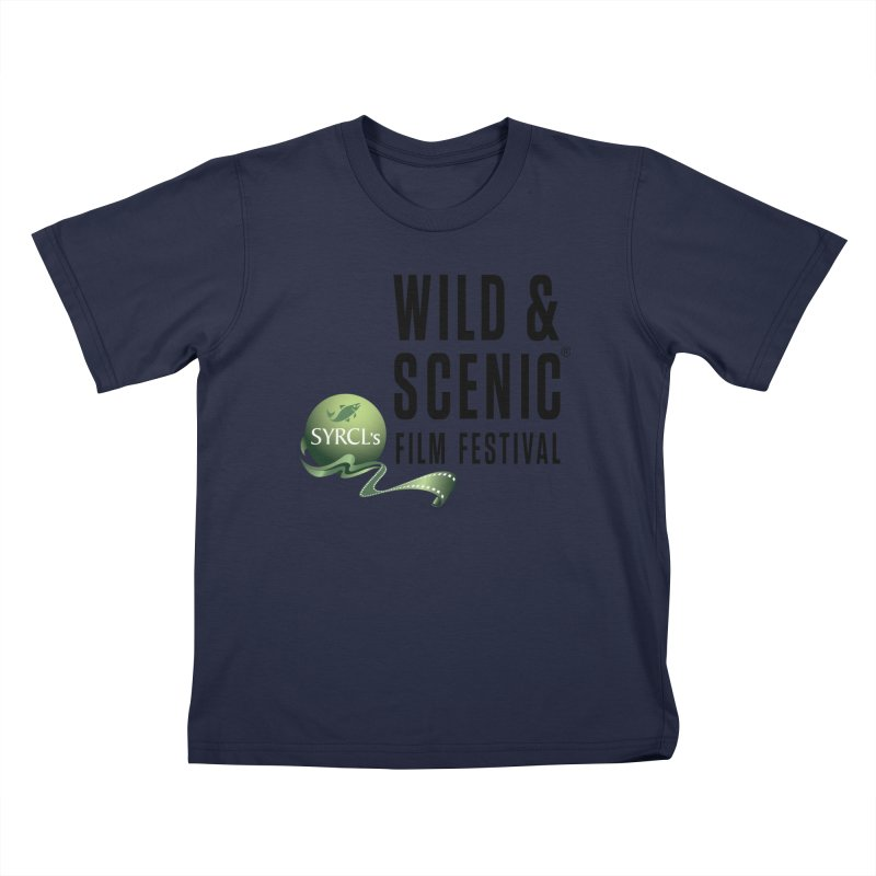 Classic WSFF Logo - Black Kids T-Shirt by Official Wild & Scenic Merchandise