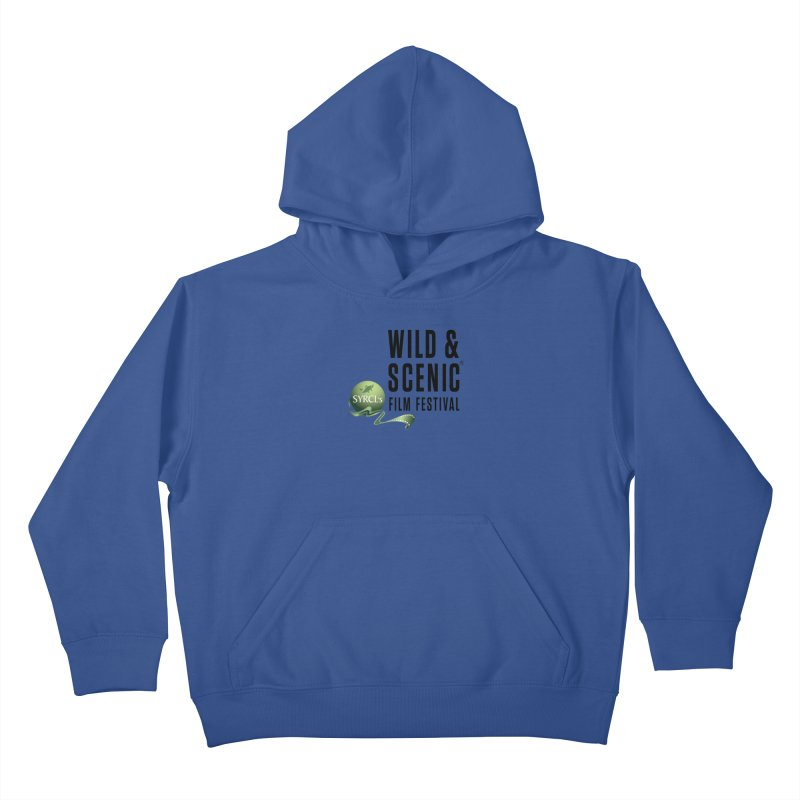 Classic WSFF Logo - Black Kids Pullover Hoody by Official Wild & Scenic Merchandise