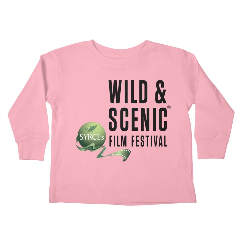 Classic WSFF Logo - Black Kids Toddler Longsleeve T-Shirt by Official Wild & Scenic Merchandise