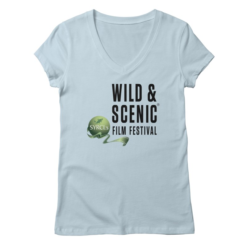Classic WSFF Logo - Black Women's V-Neck by Official Wild & Scenic Merchandise