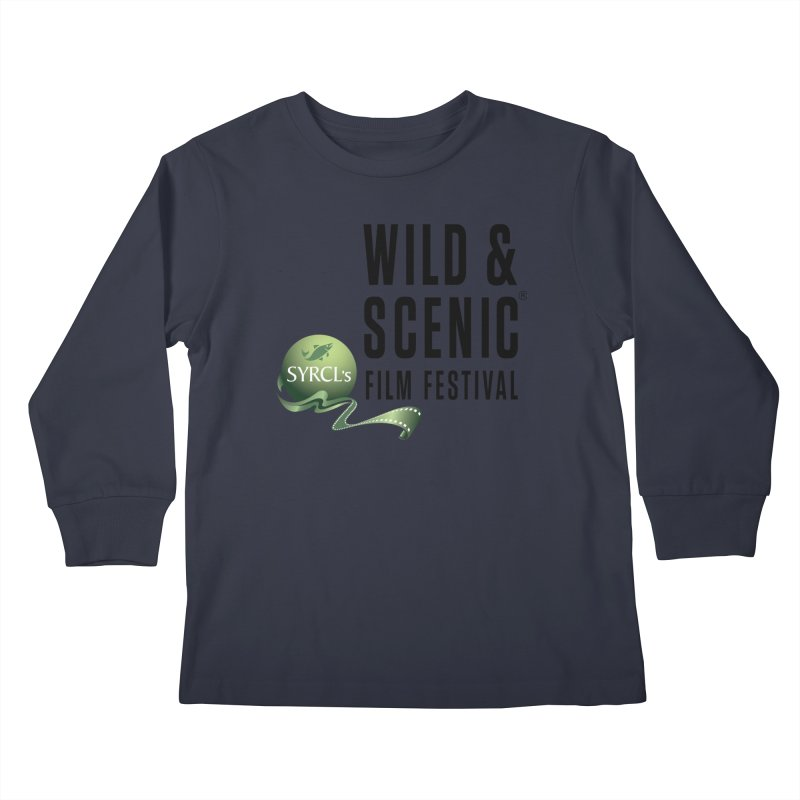 Classic WSFF Logo - Black Kids Longsleeve T-Shirt by Official Wild & Scenic Merchandise
