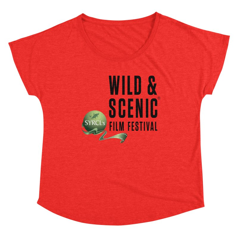 Classic WSFF Logo - Black Women's Scoop Neck by Official Wild & Scenic Merchandise