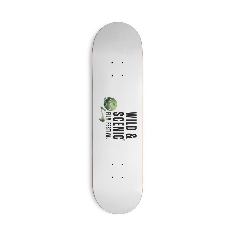 Classic WSFF Logo - Black Accessories Skateboard by Official Wild & Scenic Merchandise