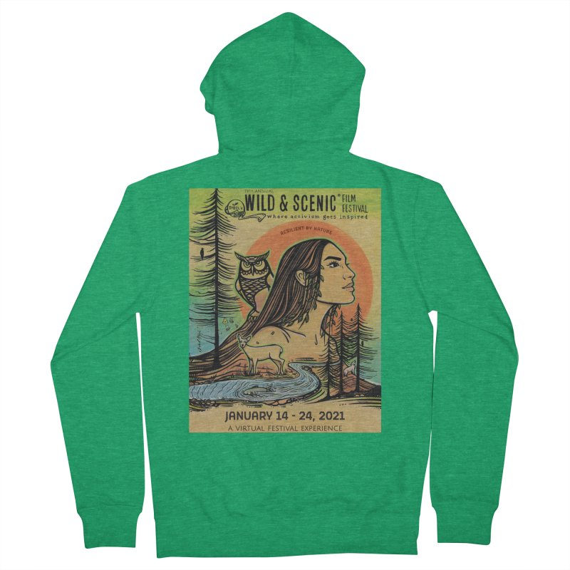 2021 Official Artwork (Full Color) Women's Zip-Up Hoody by Official Wild & Scenic Merchandise