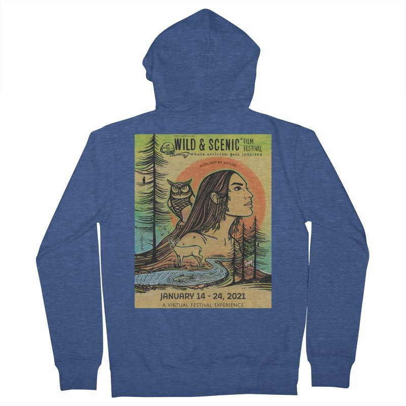 2021 Official Artwork (Full Color) Men's Zip-Up Hoody by Official Wild & Scenic Merchandise
