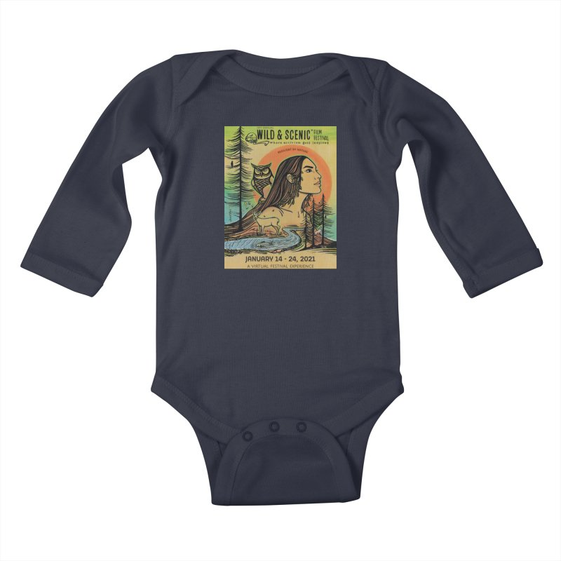 2021 Official Artwork (Full Color) Kids Baby Longsleeve Bodysuit by Official Wild & Scenic Merchandise