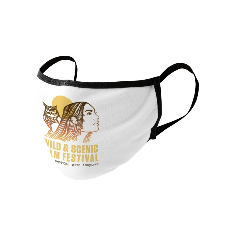 Woman & Owl w/ Sun Accessories Face Mask by Official Wild & Scenic Merchandise