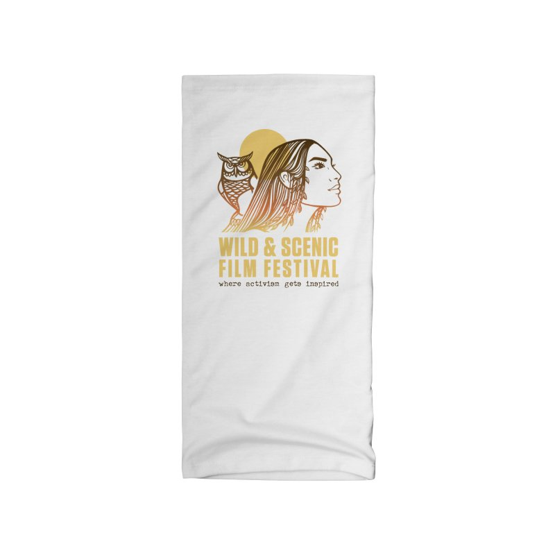 Woman & Owl w/ Sun Accessories Neck Gaiter by Official Wild & Scenic Merchandise