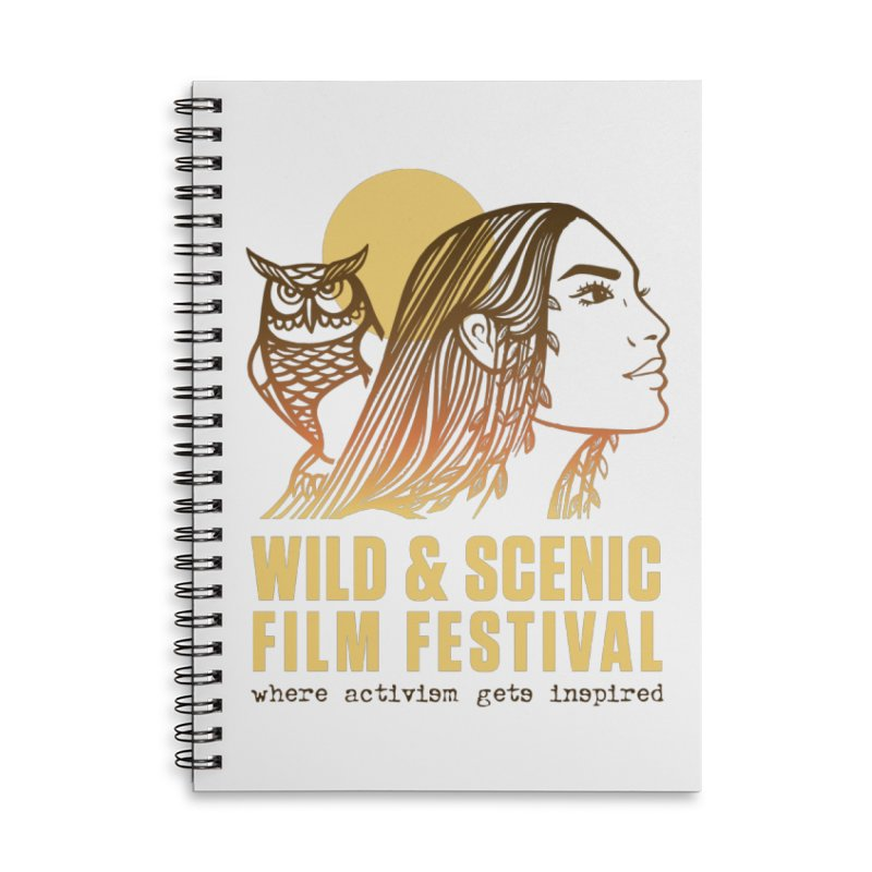 Woman & Owl w/ Sun Accessories Notebook by Official Wild & Scenic Merchandise