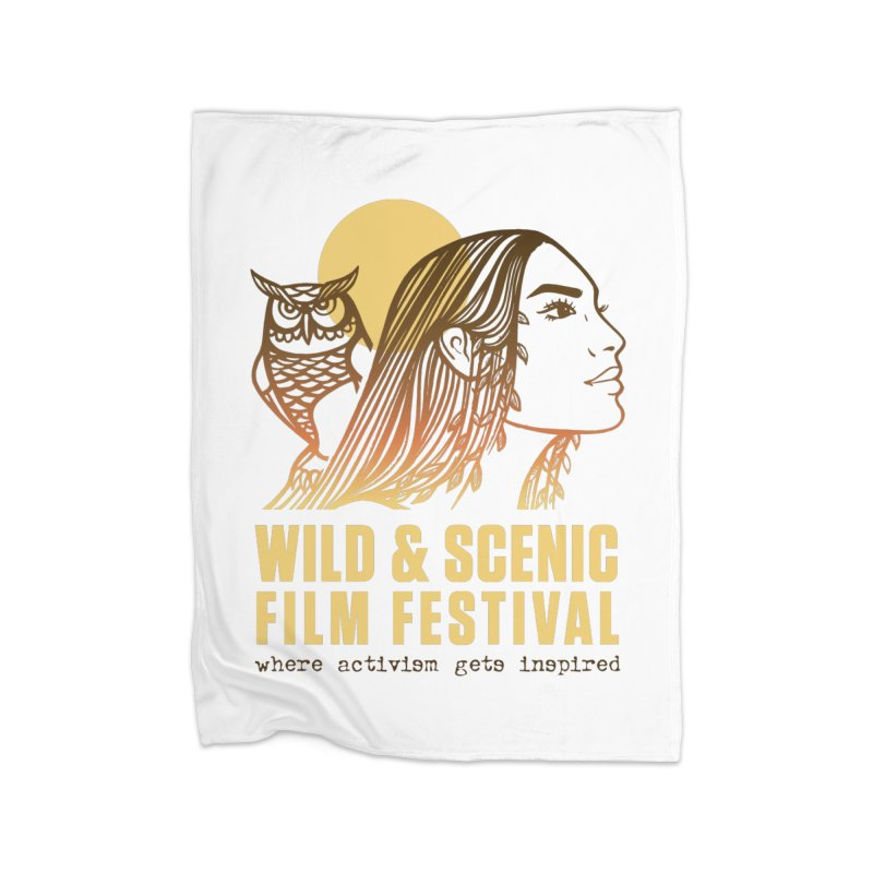 Woman & Owl w/ Sun Home Blanket by Official Wild & Scenic Merchandise