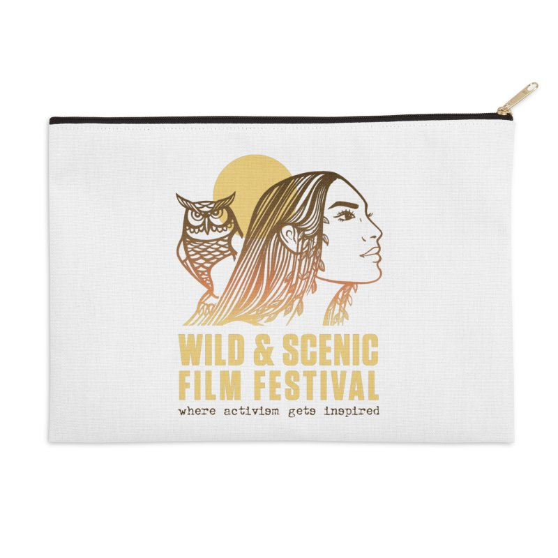 Woman & Owl w/ Sun Accessories Zip Pouch by Official Wild & Scenic Merchandise