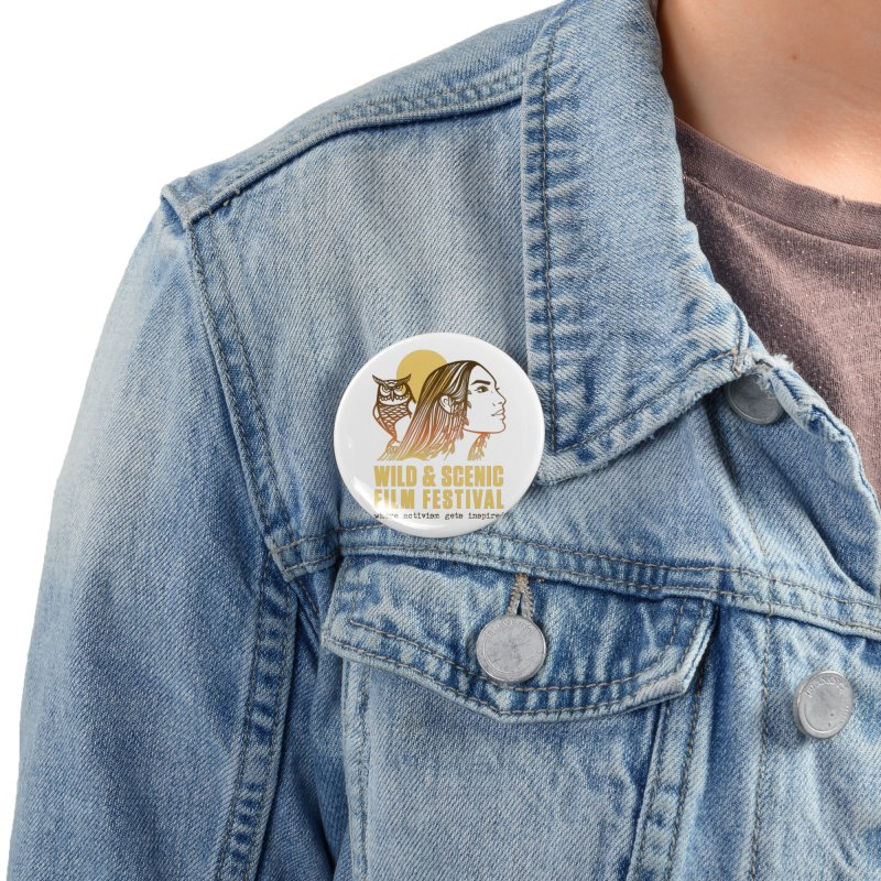 Woman & Owl w/ Sun Accessories Button by Official Wild & Scenic Merchandise