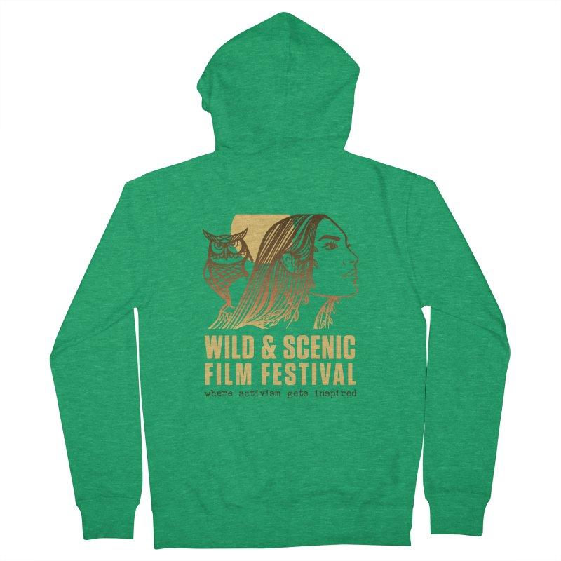 Woman & Owl w/ Sun Men's Zip-Up Hoody by Official Wild & Scenic Merchandise