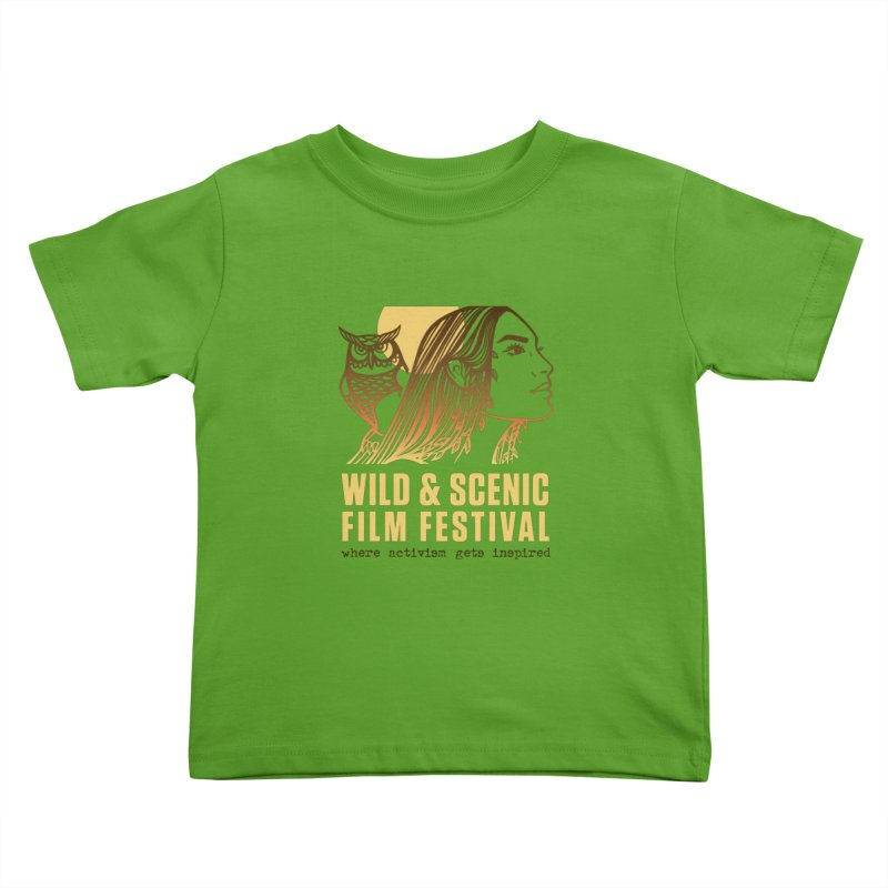 Woman & Owl w/ Sun Kids Toddler T-Shirt by Official Wild & Scenic Merchandise