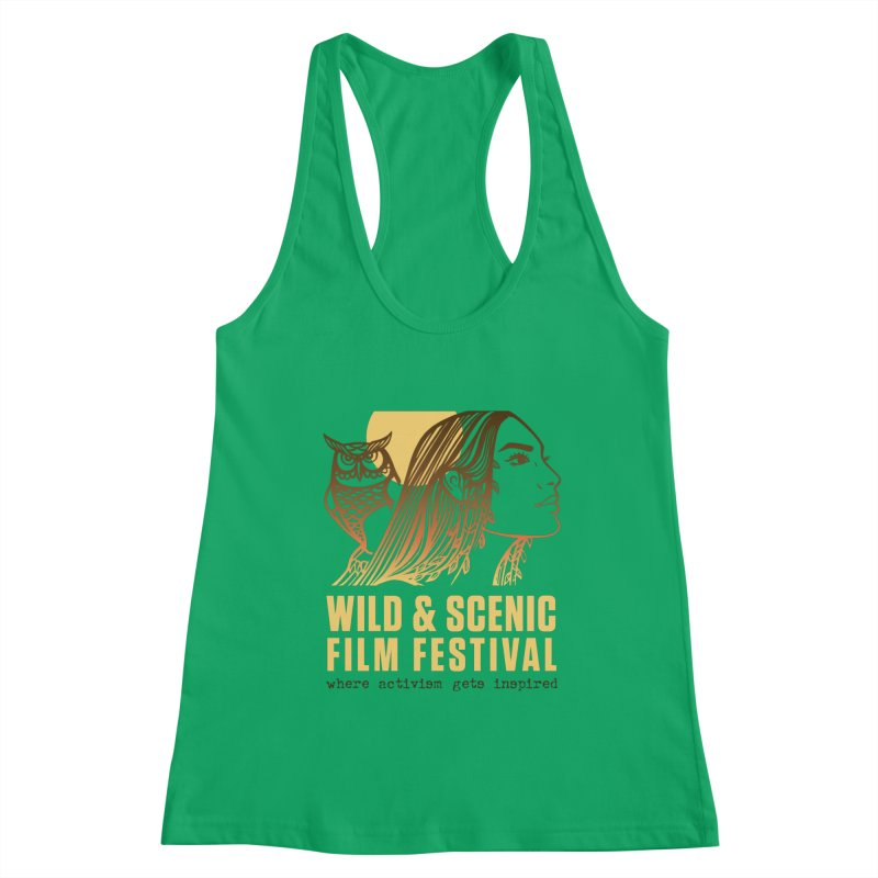 Woman & Owl w/ Sun Women's Tank by Official Wild & Scenic Merchandise