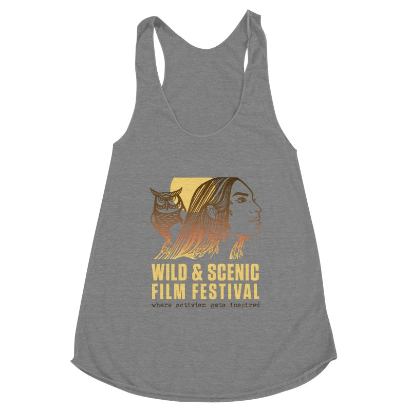 Woman & Owl w/ Sun Women's Tank by Official Wild & Scenic Merchandise