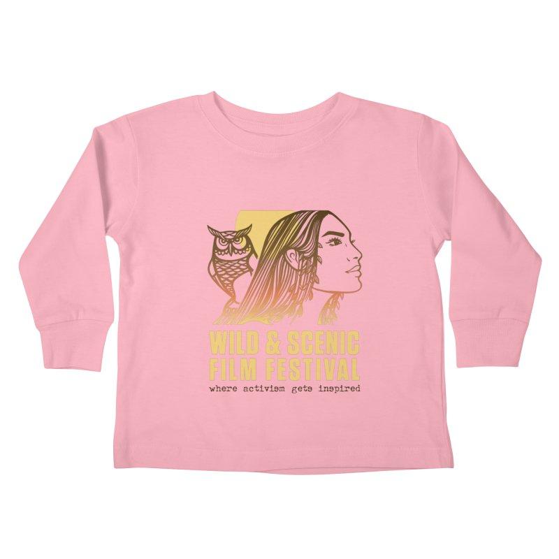 Woman & Owl w/ Sun Kids Toddler Longsleeve T-Shirt by Official Wild & Scenic Merchandise
