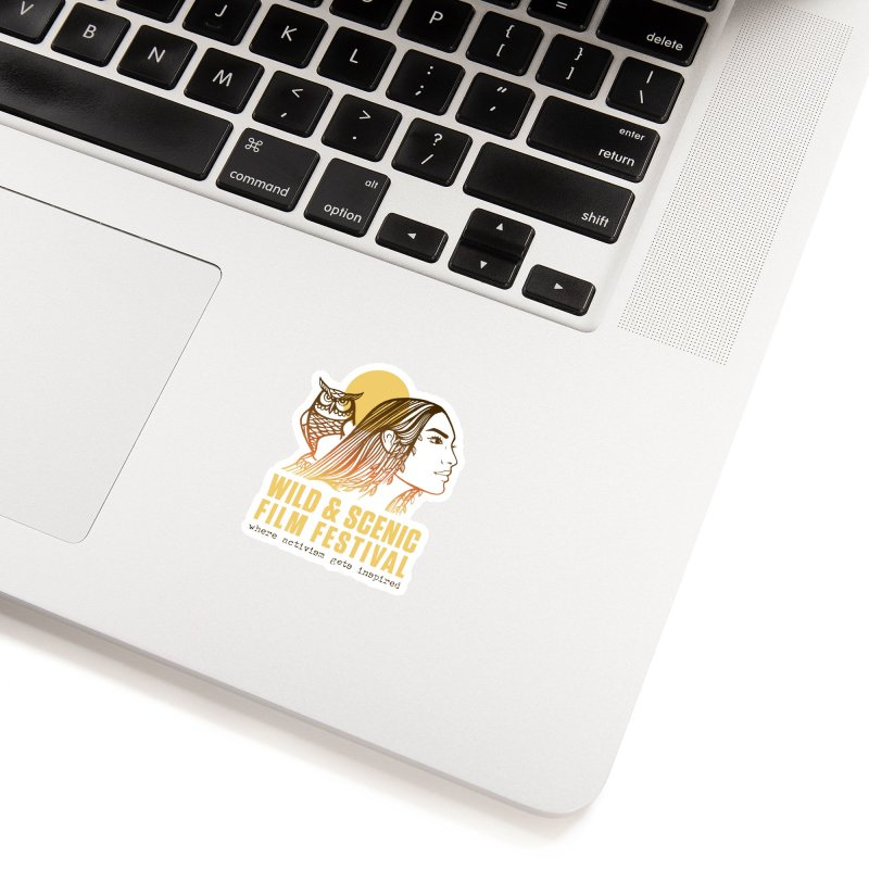 Woman & Owl w/ Sun Accessories Sticker by Official Wild & Scenic Merchandise