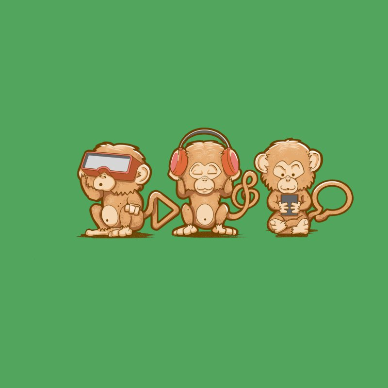 Three Modern Monkeys None  by wuhuli's Artist Shop