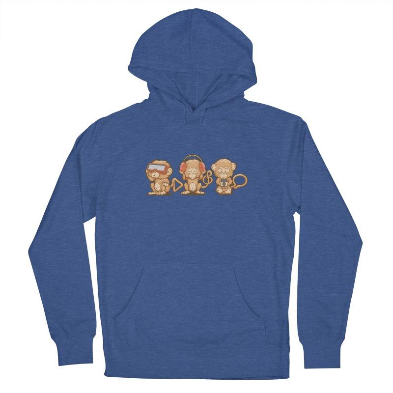 Three Modern Monkeys Men's Pullover Hoody by wuhuli's Artist Shop