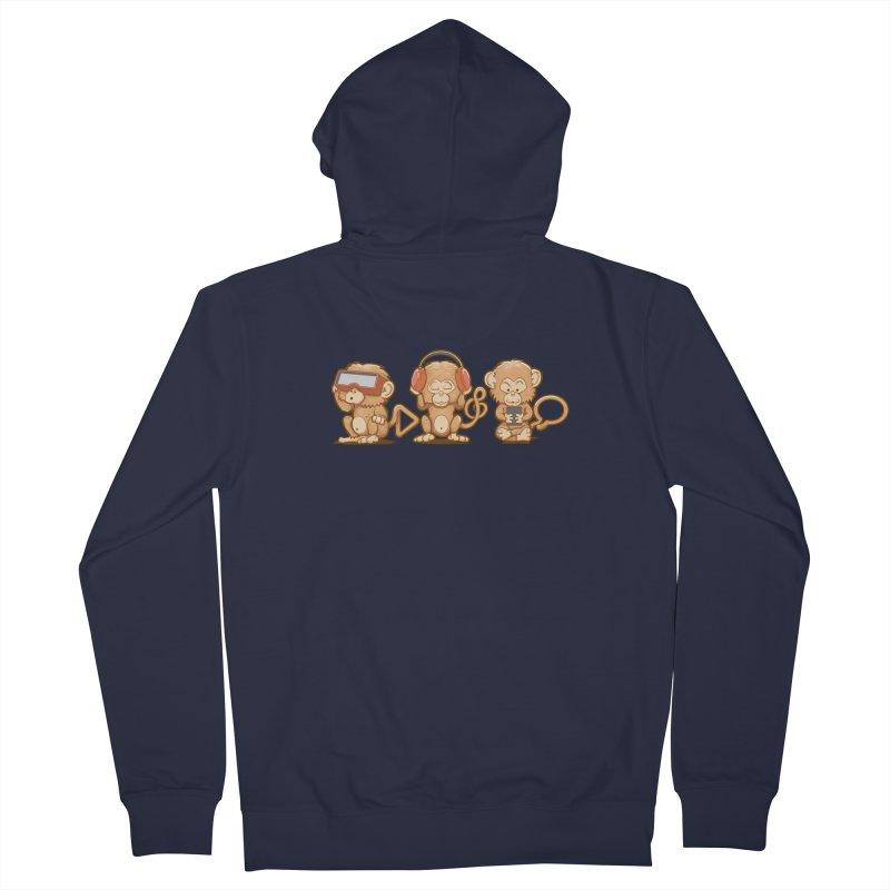 Three Modern Monkeys Women's Zip-Up Hoody by wuhuli's Artist Shop