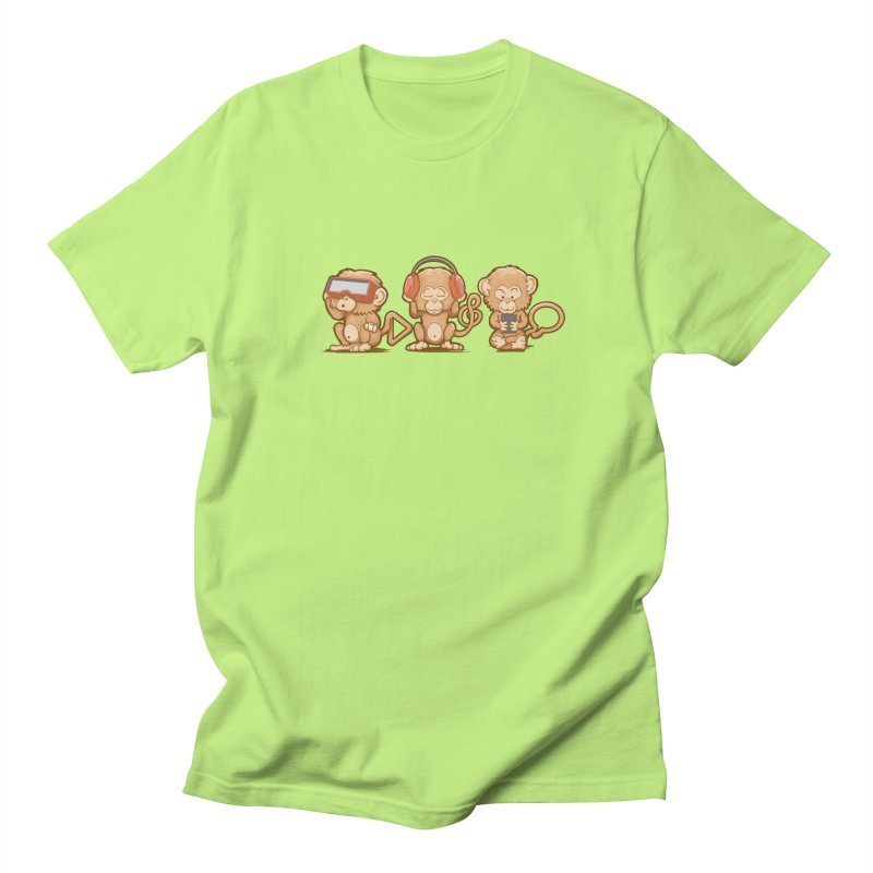 Three Modern Monkeys Men's T-Shirt by wuhuli's Artist Shop