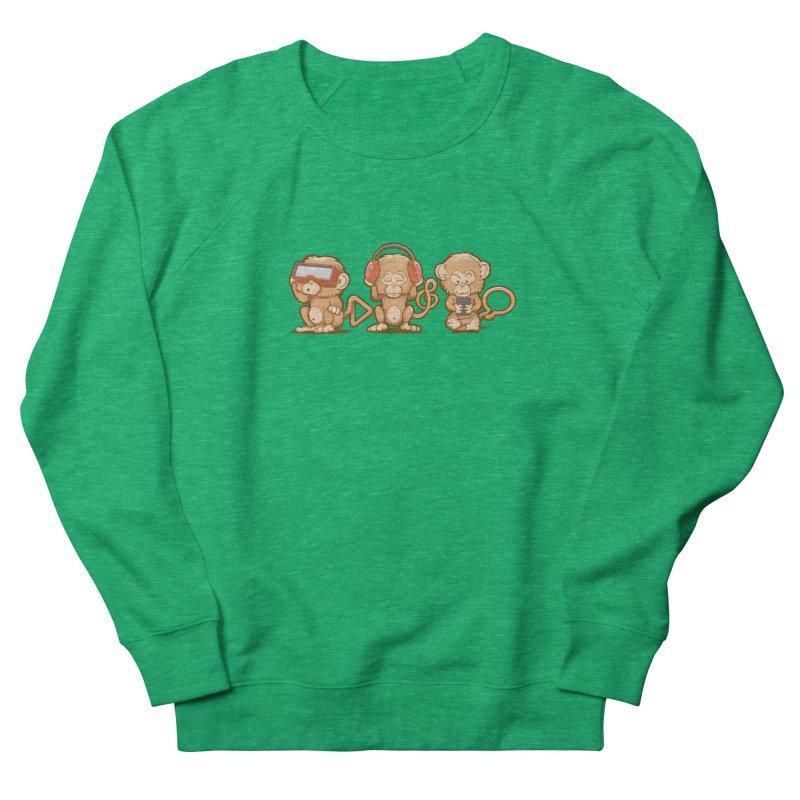 Three Modern Monkeys Women's Sweatshirt by wuhuli's Artist Shop