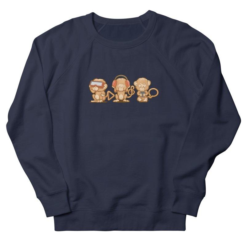 Three Modern Monkeys Men's Sweatshirt by wuhuli's Artist Shop