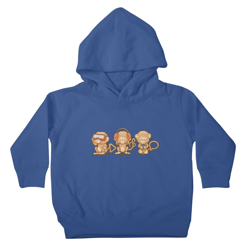 Three Modern Monkeys Kids Toddler Pullover Hoody by wuhuli's Artist Shop