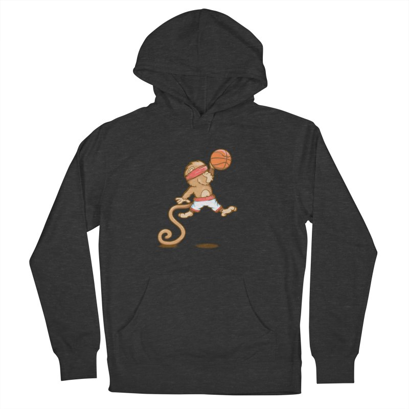 Monkey baller Men's Pullover Hoody by wuhuli's Artist Shop