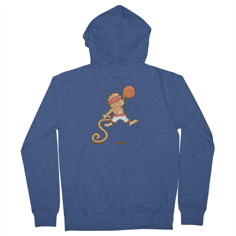 Monkey baller Men's Zip-Up Hoody by wuhuli's Artist Shop