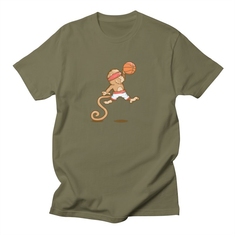Monkey baller Men's T-Shirt by wuhuli's Artist Shop
